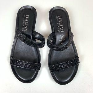 Italian Shoemakers Black Sandal 8.5 Embellished